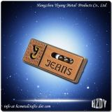 Custom Metal Rivets Logo Name Plates For Handbags