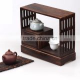 Painted color burnt solid paulownia wood tea booth, small cheap wooden tea wagon                                                                         Quality Choice