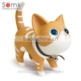 Fashion plastic cat shape coin collection box money bank saving money box