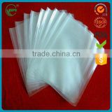 Transparent plastic vacuum bag