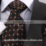 Brown Checked pocket square and cufflink set neck tie, corbata, gravate, krawatte, cravatta, fashion tie