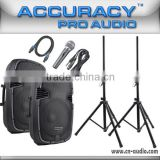 Pro Audio Live Sound Stage PA Music Speaker System PML15AMXQ-BT-KIT                                                                         Quality Choice