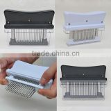 Wholesale In-stock 48-Blade Stainless Steel Manual Meat Tenderizer / meat tenderizer machine (black and white)