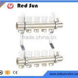 HR5060 manufacture brass composite underfloor heating System thermostatic collector manifold