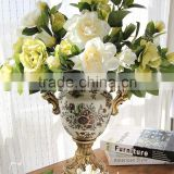 Classical gardenia decorative floral household act the role ofing is tasted The simulation flower silk flowers The table flowers