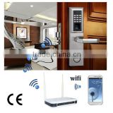zigbee phone or pad control home door fingerprint door lock                                                                         Quality Choice