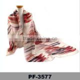 Turkey Digital Print Custom Design Men's Stripes Chiffon Light Full Of Artistic Sense Scarf