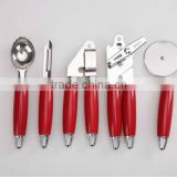 new design handle 5pc house stainless steel kitchen utensil