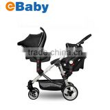 3 In 1 Twins baby stroller with car seat,Double baby stroller/pram,Before and after sitting                                                                         Quality Choice