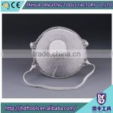 Non-toxic cup-shaped shield valve filter smog PM2.5 dust mask respiration harmful particles N95