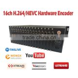 16Channel h265/hevc and h264 hdmi to iptv converter and encoder                                                                         Quality Choice