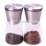 Manual pepper pepper mill, grinding jar, home kitchen supplies, Glass pepper millStainless steel pepper grinder