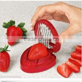 1pcs 2015 strawberries cut fruit knife SIMPLY SLICE STAINLESS STEEL BLADE STRAWBERRY SLICER DESSERTS