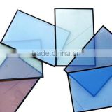 IGU/ euro grey/light blue /fgreen colored double glazed energy saving insulated glass, colored window glass , factory