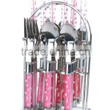 24 pcs disposable cutlery set