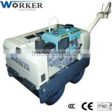 small road roller WKR700 Japanese hydraulic pump motor double drum handheld vibration construction equipment