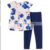 baby girls frocks designs summer infant baby girls sets woven tee shirt top and trousers for cheap