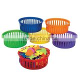 Hot Sale School Supplies Plastic Classroom Small Round Storage Baskets Promotional Wholesale Handy Slim Storage Tray Organizers