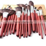 30pcs wood professional cosmetic tool kit/makeup brush set wholesale/china manufacturer/make up tool bag products china
