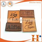 Factory price! custom high quality leather sofa patches,fashion design embossed leather patch labels