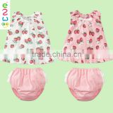 Beautiful Girls Underwear Baby Boutique Clothing Sets Organic Cotton
