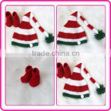 newborn baby photography props crochet baby christmas elf hat and shoes set knit baby christmas clothes