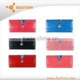 New fashion long PU card wallet woman