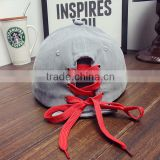 suede baseball cap with lace string at back closure for wholesale                                                                                                         Supplier's Choice