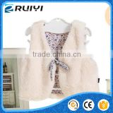wholesale children's boutique clothing baby girls clothes fake fur winter vest