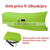 nylon fabric beach sofa sleeping bag air lounge sofa inflatable traveling laybag                                                                         Quality Choice