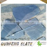 cheap natural split surface and erosion resistance antacid stone floor tile black irregular shaped slate pavers