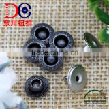 Custom logo embossed metal jeans button studs rivet for jacket jeans