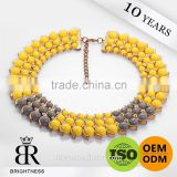 Yellow nice decorative bead boots buckle ball pearl chain Brightness F1-80007
