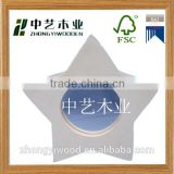 Trade assurance Printable blank photo/picture Frame wood lacquer frame China manufacture