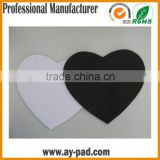 AY Heart-shape Blank Mouse Pad For Sublimation Transfer Heat Press Printing Crafts, Blank White Gaming Mouse Pad