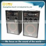 2.0 active speaker with microphone input jacks karaoke home theater speaker bluetooth speaker with led light