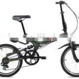 "20"" with 7 speed gear aluminium folding bikes foldable bicycles with suspension frame and fork/YA072"