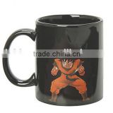 creative hot-selling 300-400ml dragon ball series heat sensitive color changing magic ceramic mug,porcelain gift cup