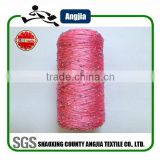 Sequin yarn bead dyed fancy yarn polyester spun sequin yarn for sewing thread