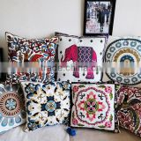 High Quality Linen Cotton Cushion Covers, Sofa Seat Embroidery Cushion Decorative Pillow Cases Supply