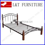 boys bedroom furniture single size metal bed with wooden post