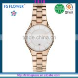 FS FLOWER -Women Watch Alloy Case Metal Watch Japan Movement Quartz Watch sr626sw For Women