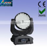 108*3w rgbw/a 45degree led stage moving head washer light with AC-LED I108-3W
