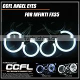8000k high brightness multicolor ccfl angel eyes 94mm&72mm halo ring headlights for FX35 with 7 colors available