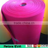 Melors high quality custom eva foam roll 6mm white sound proof foam roll craft foam roll
