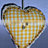Cloth & Glass Beads Heart Christmas Tree Ornaments & Decoration