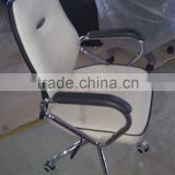 stable black and white swivel office chair AB-459