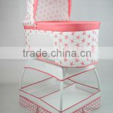 Manufacturer Portable Lightweight Swing Baby Bed with Canopy and Storage Basket Rocking Bed for Baby Cradle
