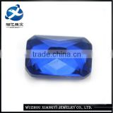 good quality octagon shape machine cut blue lab created spinel for jewelry