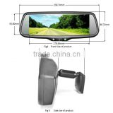 Hot selling 7.3 inch car rearview mirror monitor full screen display with Mirror Link IOS9 and android phone
